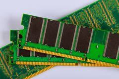 Free RAM Modules Memory Chips For Computer Over White Background Royalty Free Stock Image - 161891676