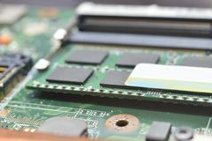 RAM on motherboard Royalty Free Stock Images