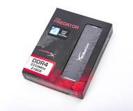 Ram nera predatore di Kingston DDR4-3333 HyperX su fondo bianco fotografia stock