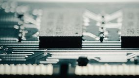 RAM o chipset de la memoria de acceso aleatorio, carro macro C?mara tirada o roja metrajes