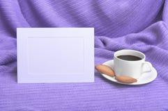 Ram och kaffe Arkivfoton
