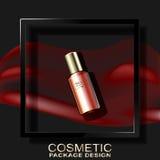 Ram och skugga för bakgrund c 3D för skönhetsmedel mörk Royaltyfria Foton