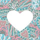 Ram på abstrakt målad bakgrund av hjärtor arkivfoton