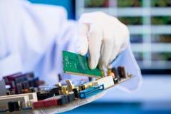 RAM pamięci karty instalacja obraz stock