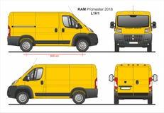 RAM Promaster Cargo Delivery Van L1H1 2018 ilustração do vetor