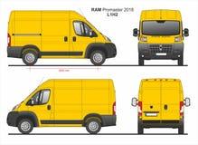 RAM Promaster Cargo Van L1H2 2018 ilustração do vetor