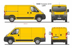 RAM Promaster Cargo Van L2H1 2018 ilustração royalty free