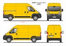 RAM Promaster Cargo Van L2H2 2018 ilustração do vetor