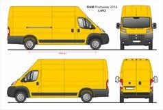 RAM Promaster Cargo Van L4H3 2018 ilustração royalty free