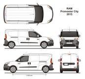 Ram Promaster City Cargo Delivery-Bestelwagen 2015 Royalty-vrije Stock Afbeelding