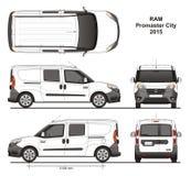 Ram Promaster City Combi Delivery-Bestelwagen 2015 Stock Afbeeldingen