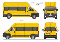 RAM Promaster Passenger Van L3H3 2018 ilustração royalty free