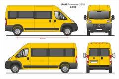 RAM Promaster Passenger Van L3H2 2018 ilustração do vetor
