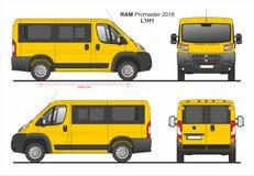 RAM Promaster Passenger Van L1H1 2018 ilustração stock