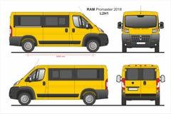 RAM Promaster Passenger Van L2H1 2018 ilustração royalty free