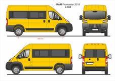 RAM Promaster Passenger Van L2H2 2018 ilustração stock