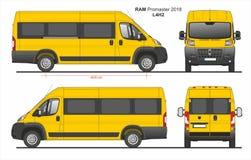 RAM Promaster Passenger Van L4H2 2018 ilustração do vetor