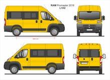 RAM Promaster Passenger Van L1H2 2018 ilustração royalty free