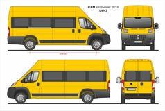 RAM Promaster Passenger Van L4H3 2018 ilustração stock