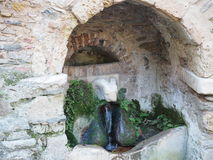 Ram's head fountain - Kesariani Monastery - Athens Royalty Free Stock Photos