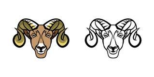 Free Ram School Mascot Illustration Royalty Free Stock Images - 102801769