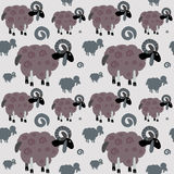 Ram seamless pattern Royalty Free Stock Photos