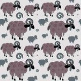Ram seamless pattern Royalty Free Stock Photos