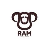 Ram, sheep, lamb head graphic logo template Stock Photography