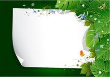 Ram som bildas med hampamarijuanasidor som isoleras på vit vektor illustrationer