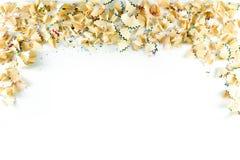 Ram som göras av färgblyertspennashavings på en vitbok Fotografering för Bildbyråer