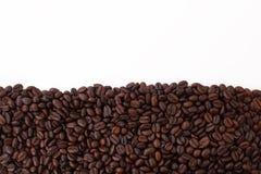 Ram som göras av korn av svart kaffe Arkivfoton