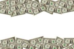 Ram som göras från en dollar räkningar Arkivfoto