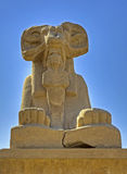 Ram sphinx at Karnak temple. Ram sphinx at the entrance avenue to Karnak temple Royalty Free Stock Photos