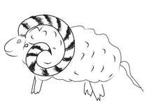 Ram stencil royalty free illustration