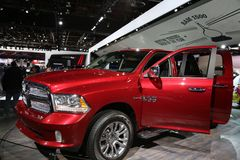 Ram track displayed at the auto show Stock Photo