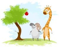 Ram und Giraffe Lizenzfreie Stockfotografie