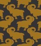 RAM wzór kierdel cakla ornament Zwierzęta gospodarskie tło Zdjęcia Stock