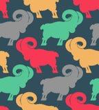 RAM wzór kierdel cakla ornament Zwierzęta gospodarskie tło Obrazy Stock