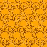 RAM wzór kierdel cakla ornament Zwierzęta gospodarskie tło Obraz Royalty Free