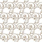 RAM wzór kierdel cakla ornament Zwierzęta gospodarskie tło Obraz Stock