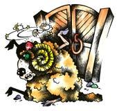 RAM y puerta Ilustración del Vector