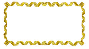 Rama żółta pomiarowa taśma Zdjęcie Royalty Free