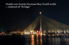 rama 8 γεφυρών Στοκ φωτογραφία με δικαίωμα ελεύθερης χρήσης