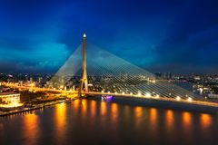 rama 8 мостов Стоковая Фотография RF