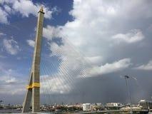 Rama8 мост, Бангкок, Таиланд Стоковое Изображение RF