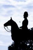 Rama 5国王骑马者纪念碑Siluate雕象  免版税库存照片