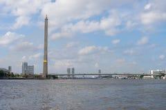 Rama 8桥梁是兆桥梁在曼谷,泰国 库存图片