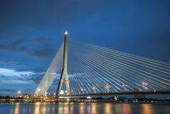 Rama 8桥梁,昭披耶河,曼谷,泰国 库存图片