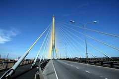 Rama 8 Brücke Lizenzfreies Stockbild