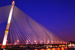 Rama 8 bridge,Bangkok,Thailand Royalty Free Stock Images